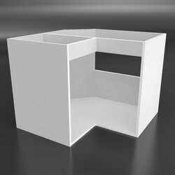 KTS007-B - Cabinet body lower corner sink angled - horizontal reinforcement fascia